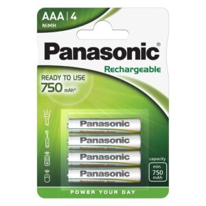 Panasonic Evolta AAA, 750 mAh, Ni-MH, blistr 4ks (142332)