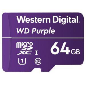 Western Digital Purple microSDXC 64GB UHS-I U1 (100R/60W) (WDD064G1P0A)