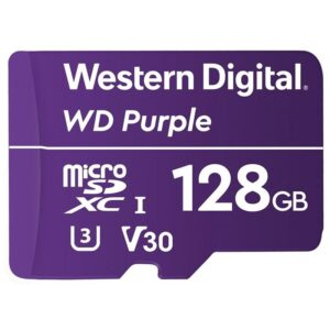 Western Digital Purple microSDXC 128GB UHS-3 U3 V30 (100R/60W) (WDD128G1P0A)