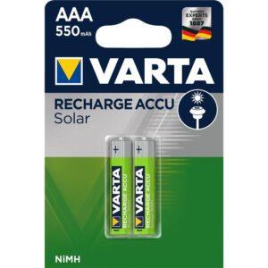 Varta Solar, HR03, AAA, 550mAh, Ni-MH, blistr 2ks (56733101402)