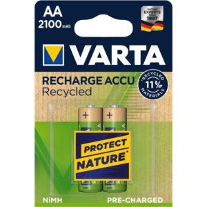 Varta Recycled HR06, AA, 2100mAh, Ni-MH, blistr 2ks (56816101402)