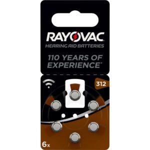 Varta Rayovac 312, blistr 6ks (4607945416)