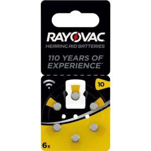 Varta Rayovac 10, blistr 6ks (4610945416)