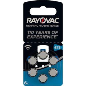 Varta Rayovac 675, blistr 6ks (4600945416)