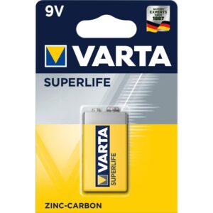 Baterie zinkouhlíková Varta Superlife 9V