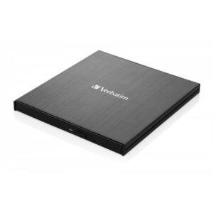 Verbatim CD/DVD Slimline USB-C + Nero černá (43886)