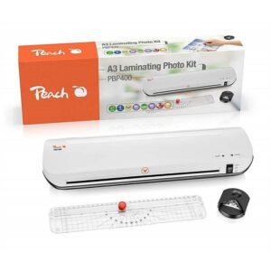 Peach 4v1 Laminating Kit PBP400, set laminátor, řezačka, zastřihovač rožků (510850)