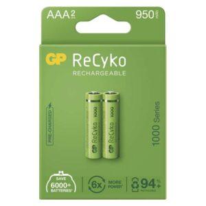 GP ReCyko, HR03, AAA, 950mAh, NiMH, krabička 2ks (1032122100)