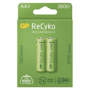 GP ReCyko, HR06, AA, 2600mAh, NiMH, krabička 2ks (1032222270)