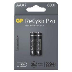 GP ReCyko Pro, HR03, AAA, 800mAh, NiMH, krabička 2ks (1033122080)