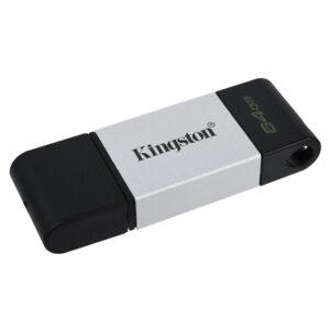 Kingston DataTraveler 80 64GB, USB-C černý/stříbrný (DT80/64GB)